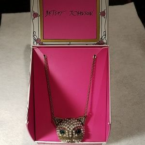 Betsey Johnson Cat Face Pendant